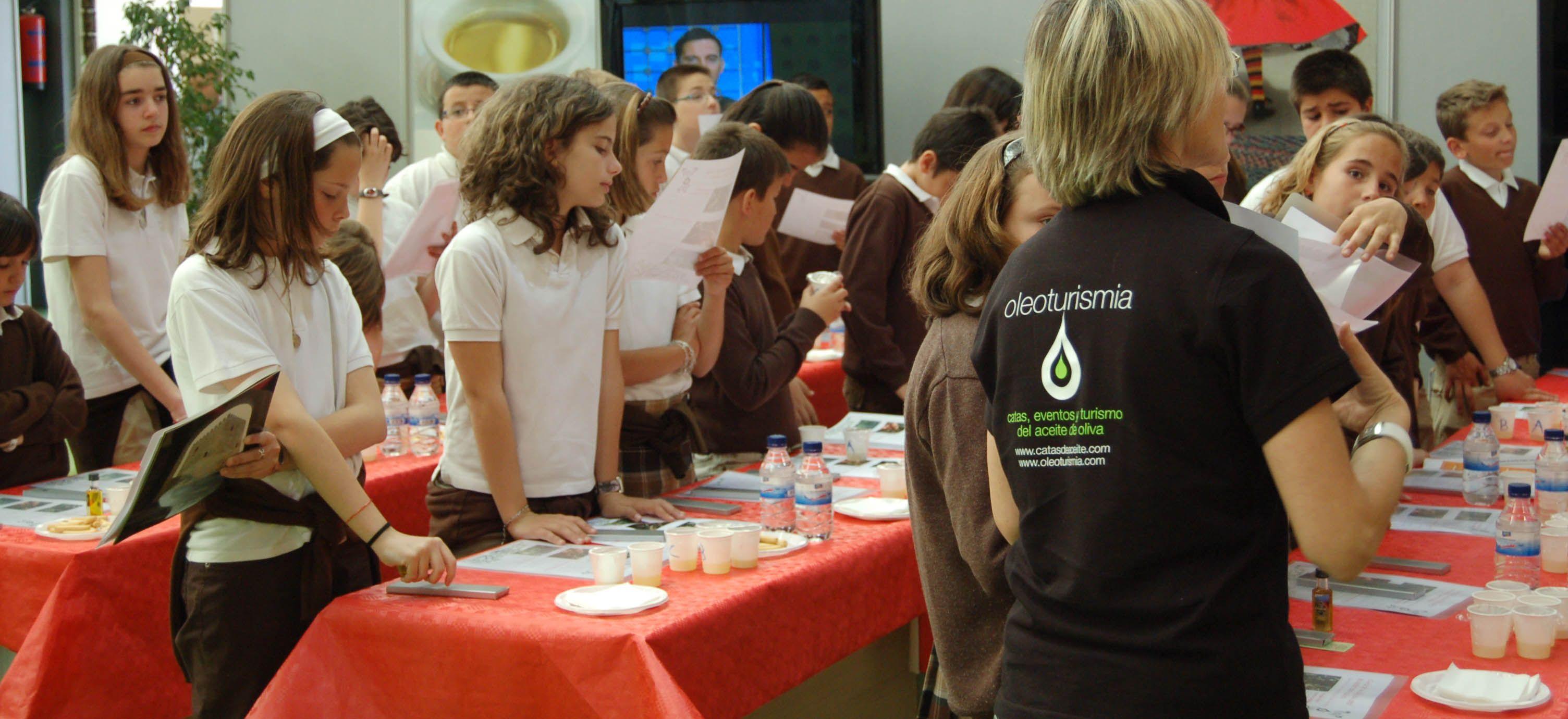 Catas de aceite para niños